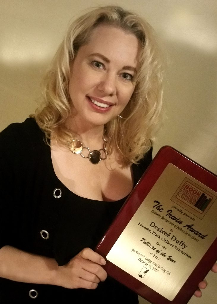 Desiree Duffy, Black Chateau, Book PR, Publicist, Award, Publicist of the Year