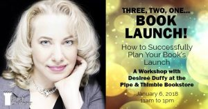 Book launch, desiree duffy, marketing expert