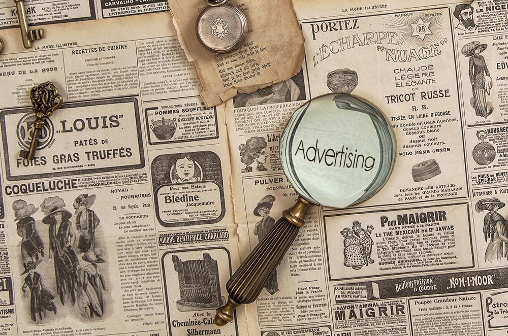 Advertising book marketing black chateau